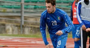 Gian Filippo Felicioli con la maglia azzurra