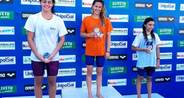 Lucia Cialoni sul gradino più alto del podio ai recenti campionati di Pesaro