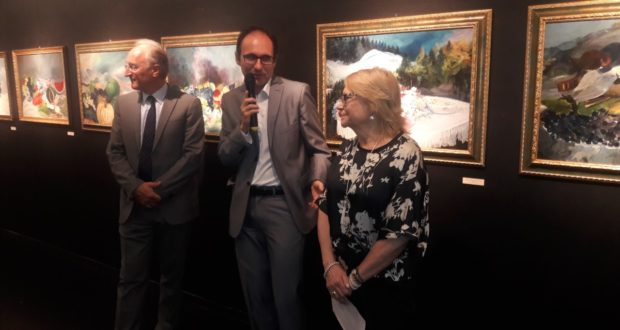 L'inaugurazione della mostra in Uruguay
