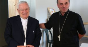 Il cardinal Bassetti oggi ad Amatrice