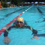 La frazione del nuoto in piscina