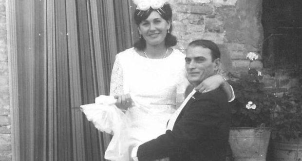 Ernesto e Chiara nel giorno del loro matrimonio (10 settembre 1967)