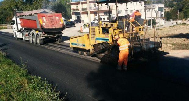Lavori sulla strada Tolentino-San Severino