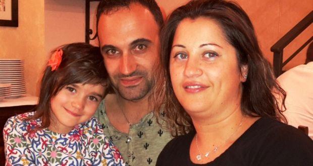 Nicole con i suoi genitori