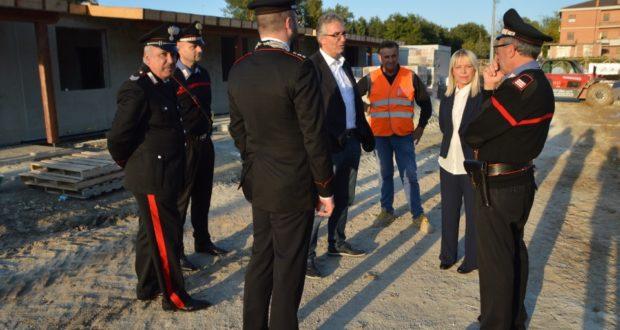 L'incontro dei Carabinieri con il sindaco Piermattei e il presidente Ceriscioli