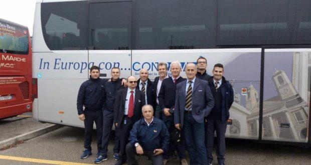 Operatori di Contram con il presidente Belardinelli