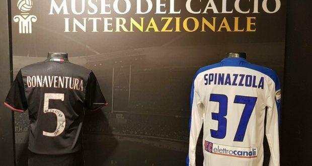 Le maglie donate al Museo internazionale del calcio