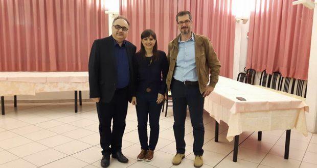 Marco Sabbatini (a destra) assieme a Debora Serracchiani e all'avvocato Claudio Cicconi