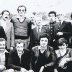 Marino Crescenzi (al centro) assieme al Team Ulissi e ad altri dirigenti dell'allora Moto club settempedano