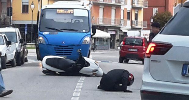 L'incidente in pieno centro