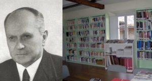 Francesco Antolisei e un angolo della biblioteca comunale a lui intitolata