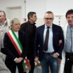 Il dottor Giovanni Pierandrei assieme al direttore dell'Area Vasta 3, Alessandro Maccioni, e al sindaco Rosa Piermattei