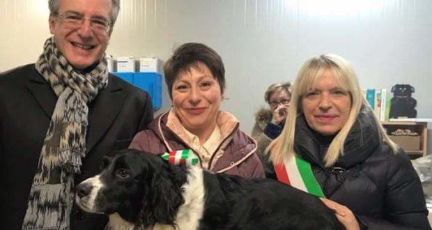 La dottoressa Fioretti con il sindaco Piermattei e l'assessore Antognozzi