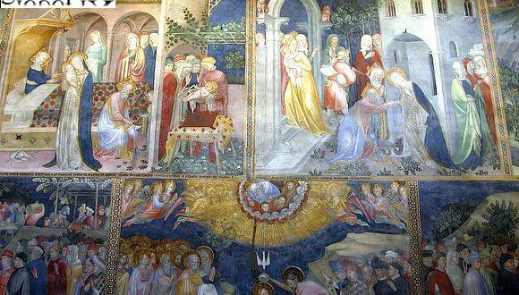 Particolari dell'oratorio di San Giovanni a Urbino