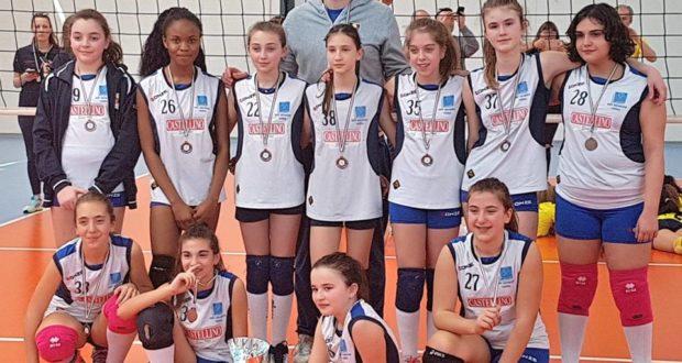 Le ragazze dell'Under 13 con il coach Moretti