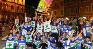 La squadra di Villa di Cesolo che ha vinto il Palio dei bambini