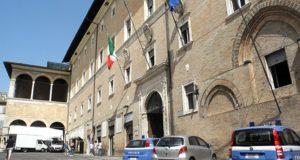 Il palazzo della Prefettura a Macerata