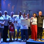 Il direttivo dell'Associazione 108 sul palco in Piazza del Popolo