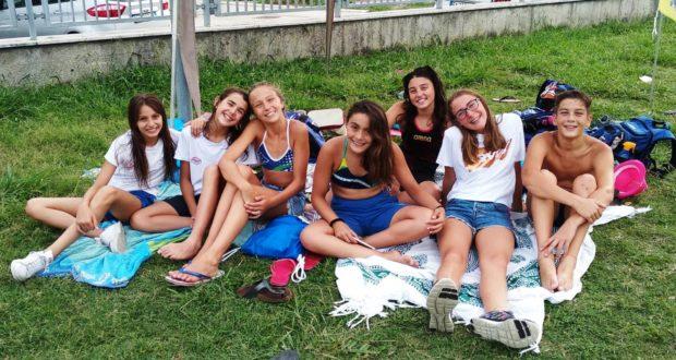 Gruppo di giovani atleti del BluGallery