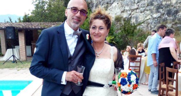 Gli sposi Cristina e Francesco