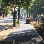 I lavori di asfaltatura