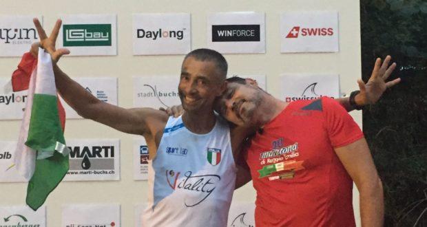 Alberto Cambio al traguardo assieme a Fabio Flauti