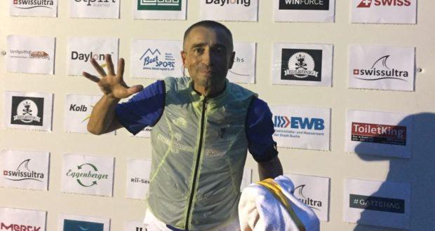 Alberto Cambio al termine del quinto giorno di gara