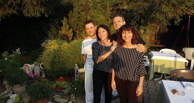 Da sinistra: Roberto, Laura, Alberto e Katia