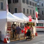 Anche la Croce rossa è presente in piazza
