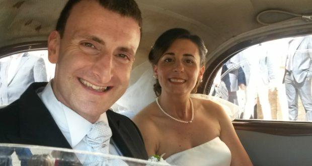 Gli sposi Sergio e Maria