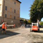 Lavori di asfaltatura in viale Bigioli