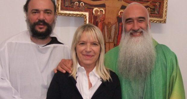 Il sindaco con Padre Pettinelli e con Padre Calletti