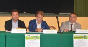 Da sinistra: il consigliere regionale Micucci, il presidente di Contram, Belardinelli, e il consigliere comunale Pierandrei