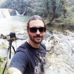 Edoardo Severini nell'ambiente studiato per la sua tesi di laurea