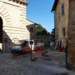 I lavori all'alloggio di Porta Romana