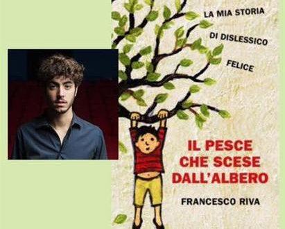 Francesco Riva e la copertina del suo libro