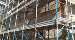 Un cantiere della ricostruzione (foto d'archivio)