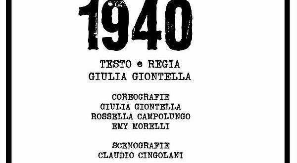 """La locandina dello spettacolo """"1940"""""""