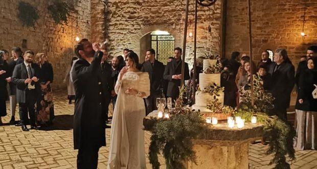 Il brindisi degli sposi a Rocca d'Ajello