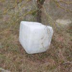 Uno dei rifiuti abbandonati