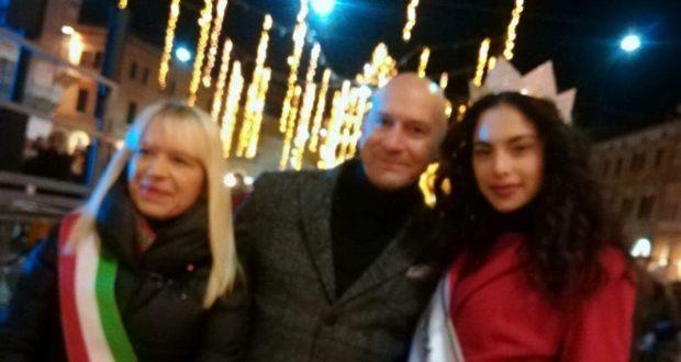 Miss Italia in piazza con il sindaco Rosa Piermattei e il presentatore Febo Conti