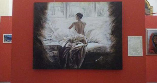 Una delle opere in mostra