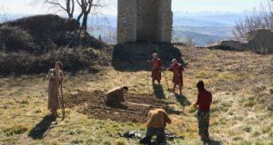 Le riprese al Castello di Pitino