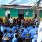 La festa d'inaugurazione a scuola