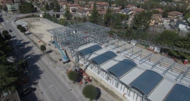 Il cantiere per la realizzazione del nuovo Itis