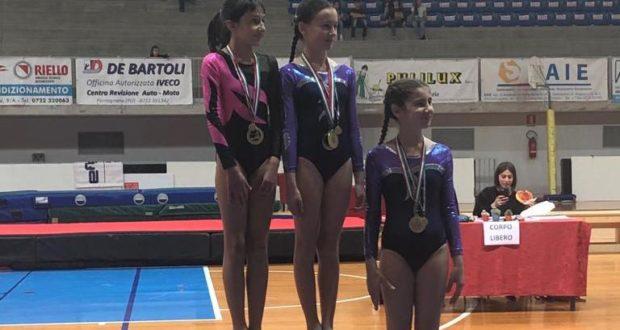 Giulia Palazzesi sul gradino più alto del podio