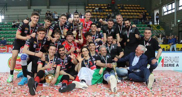 La Lube di Paparoni e Rosichini campione d'Italia