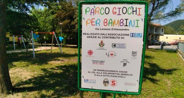 Nuovo parco giochi in via D'Alessandro
