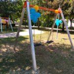 Un angolo del parco giochi