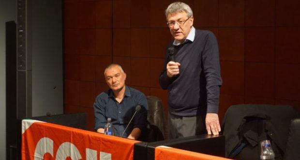 Maurizio Landini e Daniel Taddei